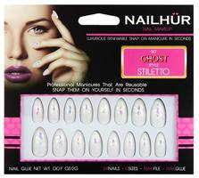 Nailhur Ghost Siletto Nails