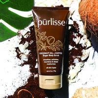 Pur-lisse Coconut Oil + Coffee Sugar Body Scrub