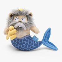 Merv the Squirmaid King Plush Squeaky Dog Toy