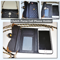 iPhone Clutch/Purse/Cell Phone Holder with adjustable Chain