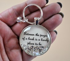 P3 Personalized Jewelry - Book Lover Key Chain