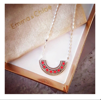 Liane Necklace by Vous Mademoiselle in Silver