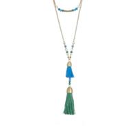 Casablanca Double Strand Tassel Pendant Necklace by Karen Kane