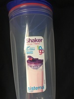 Sistema Klip It Collection Shaker to Go Drink Shaker, 23.6 Ounce/ 3 Cup