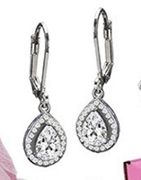 "Eden ""Delightful"" CZ Drop Dangle Earrings"