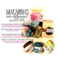 6 boxed macaroon soaps