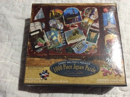 Garry Walton's Premier 1000 piece jigsaw puzzle - Vintage Travel Case