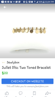 Juliet disc bracelet