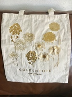 Golden Tote Gold Flowers Tote Bag Only