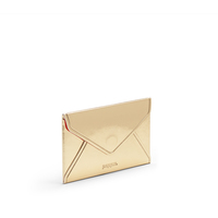 Poppin Business Card Case - Gold + Coral Interior