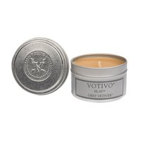 Votivo Aromatic Travel Tin Grey Vetiver