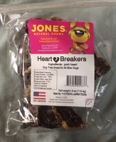 Jones Natual chews Heart Breakers