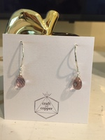 Craft and Copper Mini Quartz Hoop Earrings from California Found