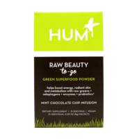 HUM Raw Beauty Green Superfood Powder Mint Chocolate CHip Infusion