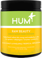 HUM Raw Beauty Green Superfood Powder Coconut Pineapple Tropical Infusion