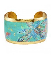 Evocateur Green Mosaic Sea Turtle Cuff