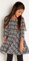 IKAT SKATER DRESS (Colors-Black & White)