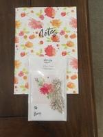 Fiber & Dye South Coast Botanicals Notebook & Flower Bunch Gift Tags