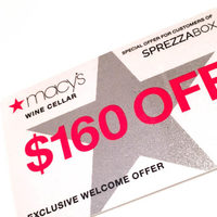 Macy's Wine Cellar $160 off offer code/card