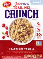 Post Grape-Nuts Trail Mix Crunch Cranberry Vanilla Cereal