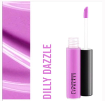 MAC little Mac lipglass in Dilly Dazzle