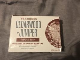 Schmidt's natural soap cedarwood & juniper