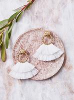For Love and Lemon Loop Fringe Earrings
