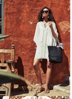 Bindya Lace Up Cover Up