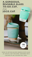 Joco Artisan Blown Glass Reusable Cup
