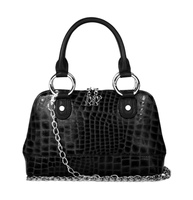 Bolzano Mini Top Handle Croc Leather Bag