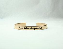 "Made By Nandi ""Nevertheless, She Persisted"" Bracelet"