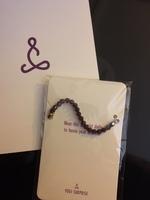 amethyst crystal bead bracelet
