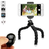 Adjustable Phone Stand/Tripod/Holder with Bluetooth Remote and Universal Clip for any Smartphone, Cellphone, Camera, GoPro