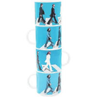 Beatles Abbey Road stacking coffee mugs