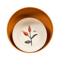 Magpie & Jay   Flora Eco-Bamboo Fiber Serving Bowls in Rosehip