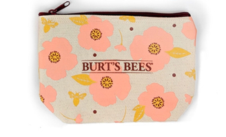 Burt's Bees Cosmetics Bag