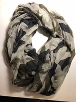 Scarf Black and Gray Eternity Scarf
