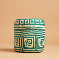 """6.5"""" Palm leaf basket"""