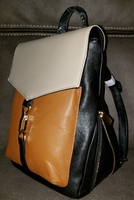 Lionel Handbags Patricia Backpack in Mustard and Black