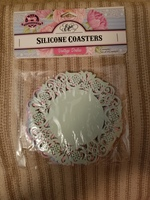Vintage Doilies Silicone Coasters