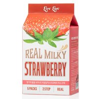 Lovluv Real Milky Strawberry Cupura Facial Sheet Mask with boosting serum
