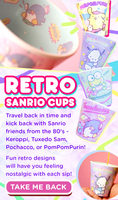 80s Sanrio Retro Cup
