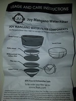 Joy Mangano Water Filter Set w/Travel Case