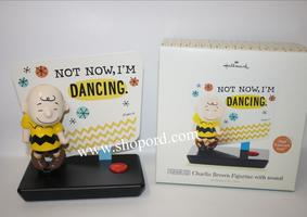 "Hallmark Peanuts Charlie Brown ""Not Now, I'm Dancing"" musical figurine"