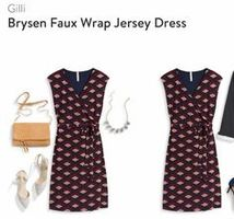 Gilli brysen faux wrap dress burgandy