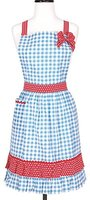 KAF Home Gingham & Polka Dot Mary Ann Hostess Apron