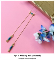 House of Harlow Age of Antiquity Bolo Necklace