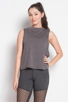 XS The Free Yoga Basic Muscle Top - Charcoal Grey
