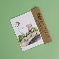 Skater Llama Postcard Set