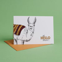 Oh Hello There Llama Card
